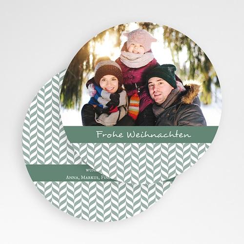 Weihnachtskarten Blättermotiv gratuit