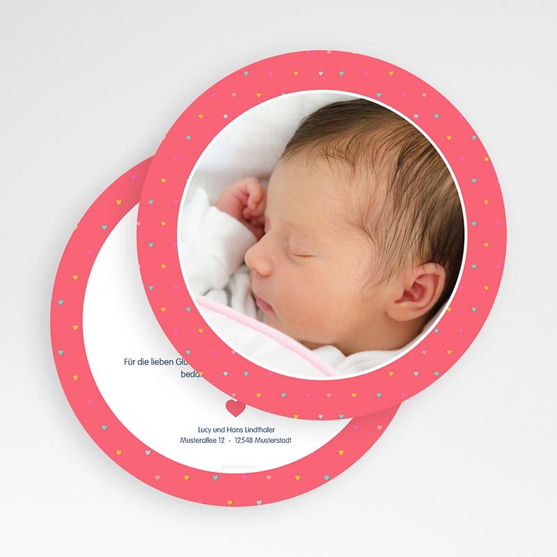 Geburtskarten für Mädchen Unser Herzchen gratuit