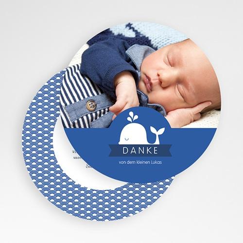Dankeskarten Geburt Jungen - Kleiner Wal - Danke 50153 preview