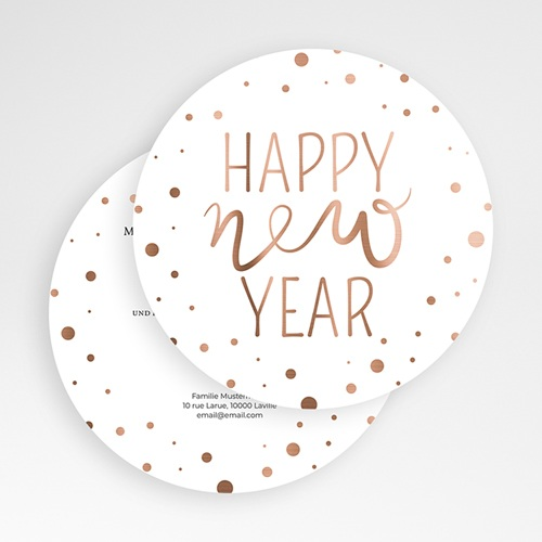 Weihnachtskarten - Kupferfarben 50154 test