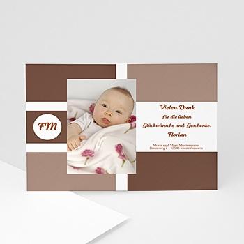 Dankeskarten Geburt Jungen - Babykarte pur - 1