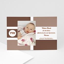Danksagungskarten Geburt Pur