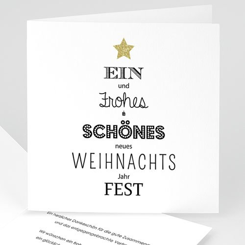 Weihnachtskarten - Best wishes 50160 test