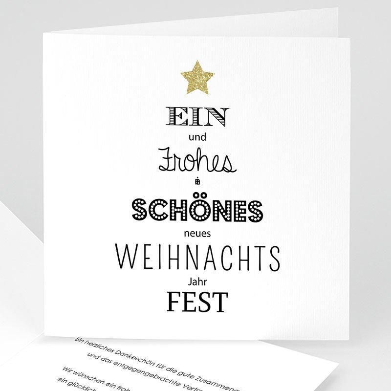 Geschäftliche Weihnachtskarten Best wishes