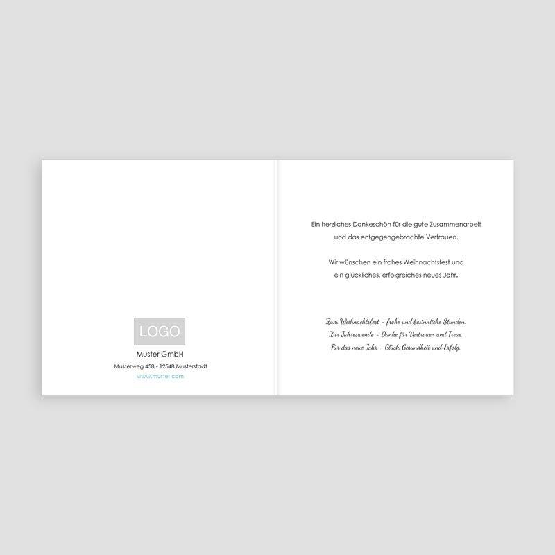 Geschäftliche Weihnachtskarten Best wishes pas cher