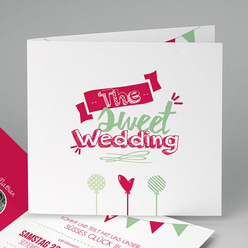 Hochzeitseinladungen modern - Candy 50196