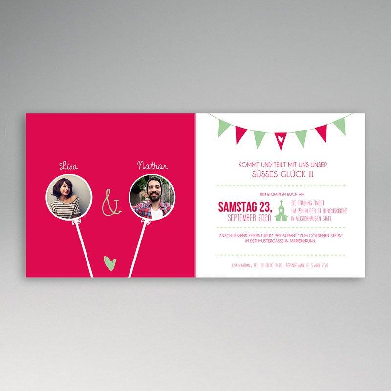 Hochzeitseinladungen Candy pas cher