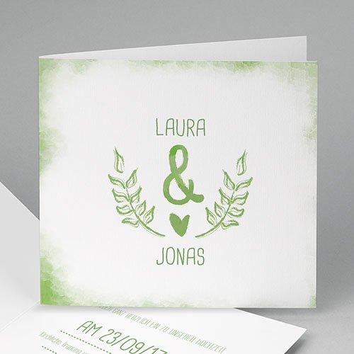 Einladungskarten Hochzeit  - Grün Weiss 50205 test