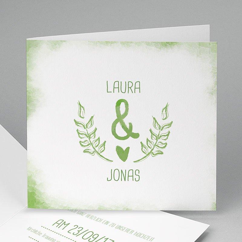 Grun Hochzeitseinladungen Grün Weiss