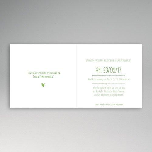 Einladungskarten Hochzeit  - Grün Weiss 50206 test
