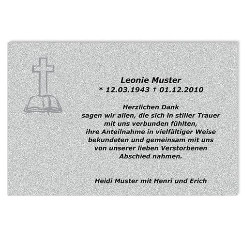 Trauer Danksagung christlich - In alle Ewigkeit 5023