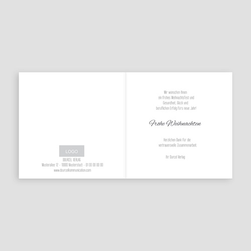Weihnachtskarten - Hirsch 50230 test