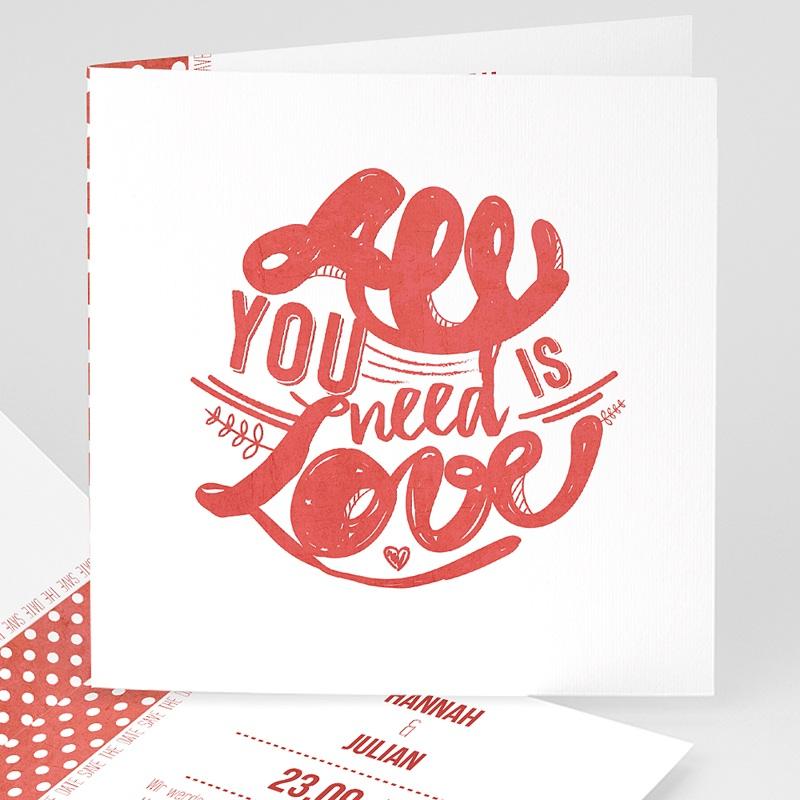 Hochzeitseinladungen Rot