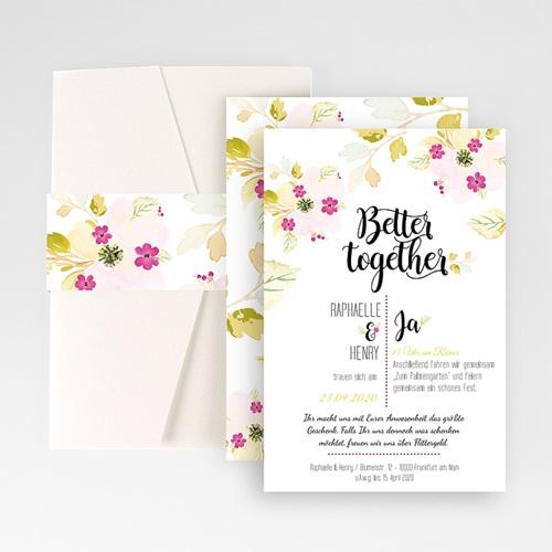 Hochzeitskarten Querformat - Monet 50268