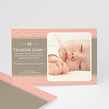 Dankeskarten Geburt Mädchen - babykarte Hermina - 1