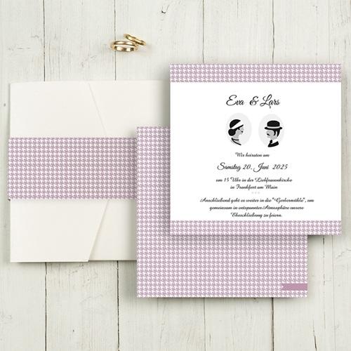 Hochzeitskarten Quadratisch Lady