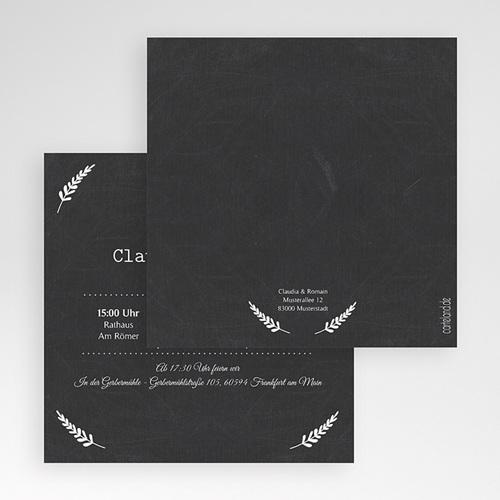 Hochzeitskarten Quadratisch Tafelstil