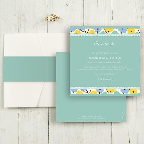Hochzeitskarten Quadratisch - Blumendeko 50359
