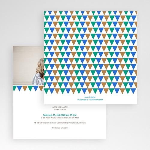 Hochzeitskarten Quadratisch - Mosaikdesign 50360 preview