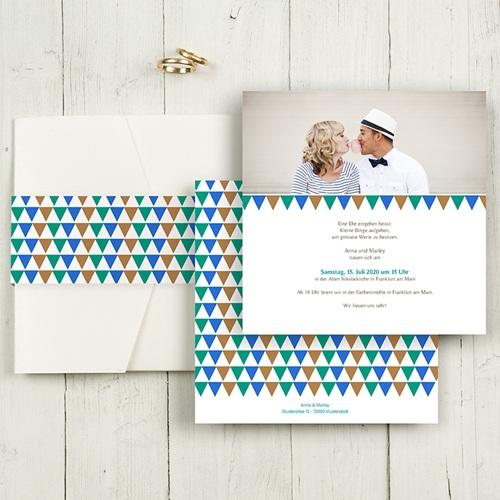 Hochzeitskarten Quadratisch - Mosaikdesign 50361