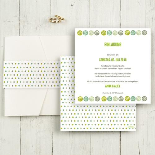 Hochzeitskarten Quadratisch - Naturverliebt  50363