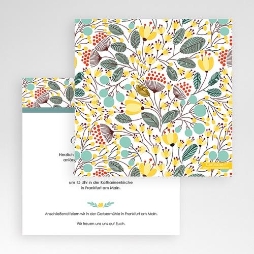 Hochzeitskarten Quadratisch - Blumen Frühling 50368 preview