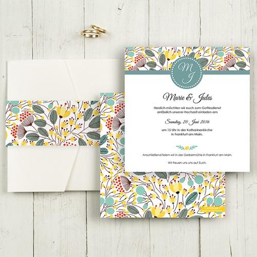 Hochzeitskarten Quadratisch - Blumen Frühling 50369