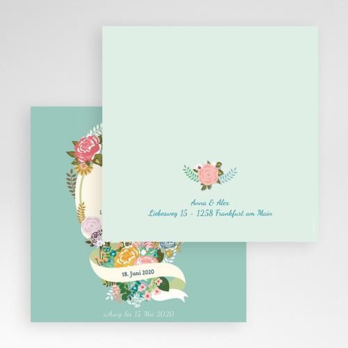 Hochzeitskarten Quadratisch - Vintage Romantik 50374 test