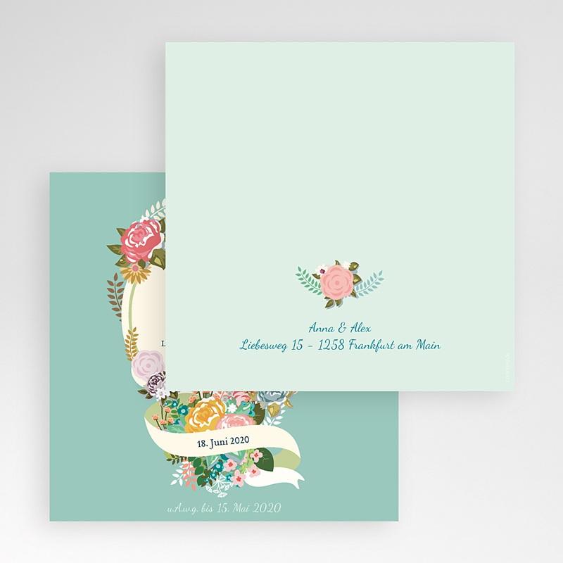Hochzeitskarten Quadratisch - Vintage Romantik 50374 thumb