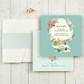 Hochzeitskarten Quadratisch - Vintage Romantik 50375 test