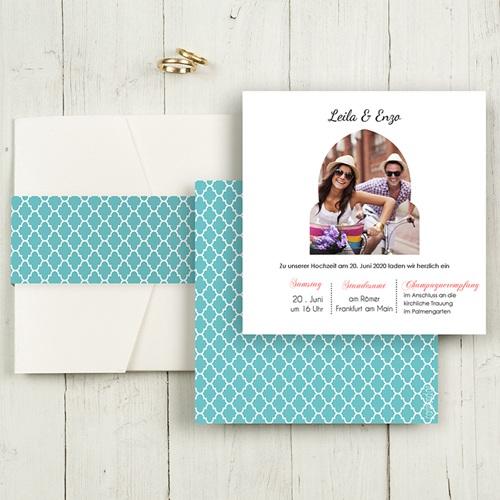 Hochzeitskarten Quadratisch - 1001 Nacht 50377