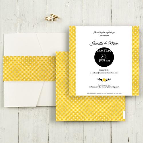 Hochzeitskarten Quadratisch - Yellow 50379