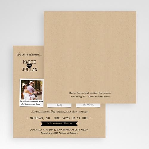 Hochzeitskarten Quadratisch - Liebesglück 50382 preview