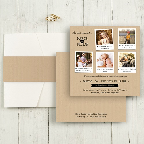 Hochzeitskarten Quadratisch - Liebesglück 50383