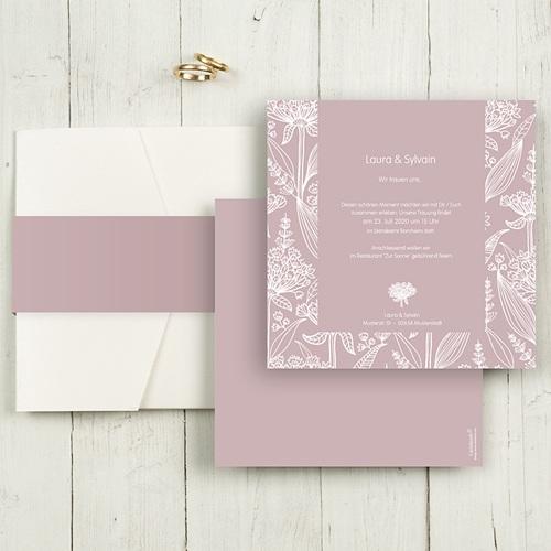 Hochzeitskarten Quadratisch - Blütenzauber 50385