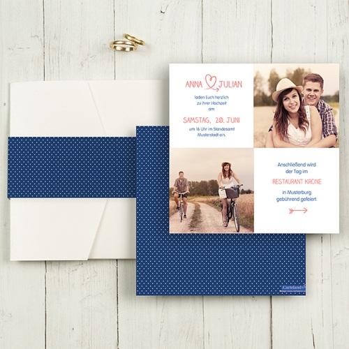 Hochzeitskarten Quadratisch - Fusion 50389