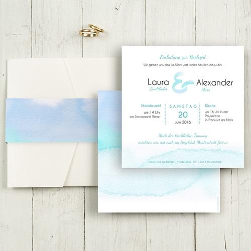 Hochzeitskarten Quadratisch Aquae