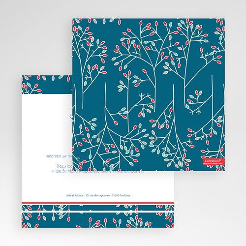 Hochzeitskarten Quadratisch - Aubusson 50398 test