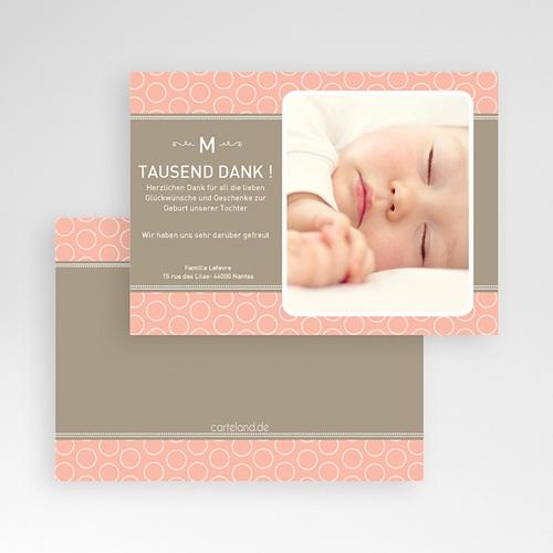 Dankeskarten Geburt Mädchen - Hermina 504 test