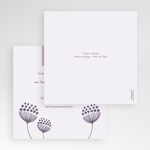 Hochzeitskarten Quadratisch - Violett 50402 preview