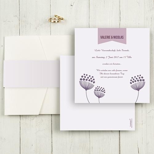 Hochzeitskarten Quadratisch - Violett 50403