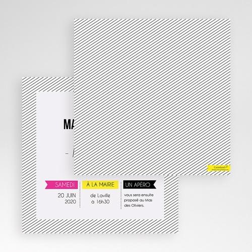 Hochzeitskarten Quadratisch - Neon 50404 preview