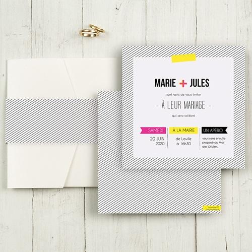 Hochzeitskarten Quadratisch - Neon 50405