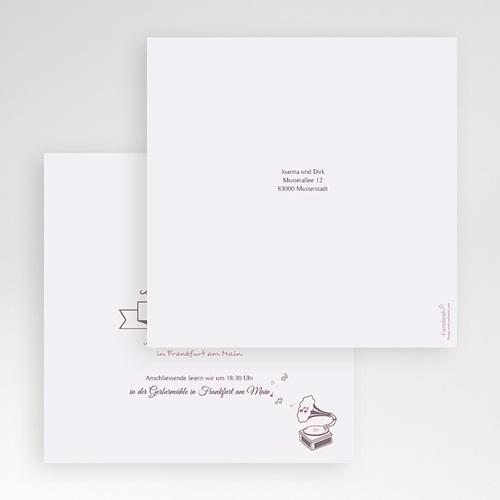 Hochzeitskarten Quadratisch Zarte Töne