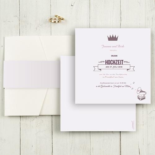 Hochzeitskarten Quadratisch - Zarte Töne 50407