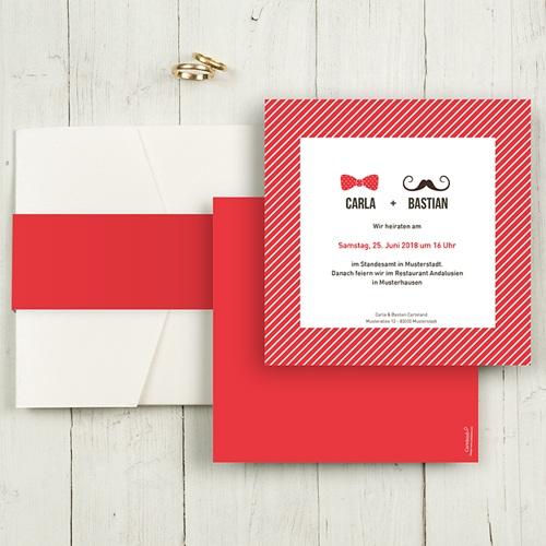Hochzeitskarten Quadratisch - Madame und Monsieur 50409