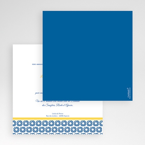 Hochzeitskarten Quadratisch - Design Lissabon 50412 preview