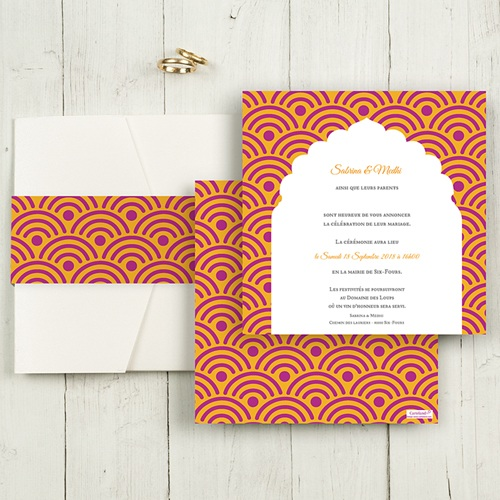 Hochzeitskarten Quadratisch - Marrakech 50419