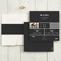Hochzeitskarten Quadratisch Mr und Mrs