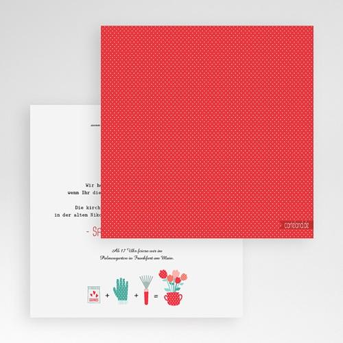 Hochzeitskarten Quadratisch - Liebesbeet 50429 preview